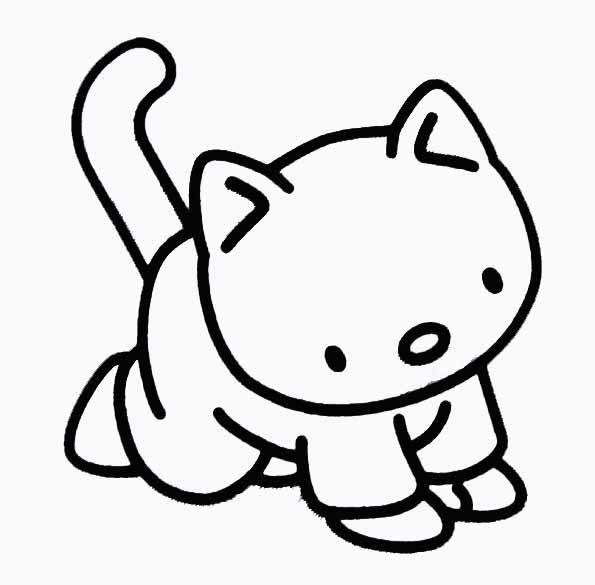 Le monde des chats page 27 - Dessin a colorier chat chaton ...